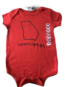 Georgia Bulldogs Licensed Infant Bodysuit 12 M New With Tags $9.99