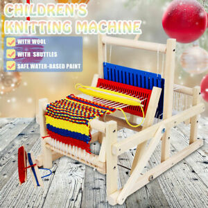 Classic Wooden Table Weaving Loom Machine Kits Model Hand Craft Wood Tapestry