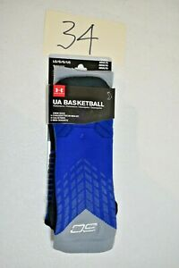 Under Armour Socks Basketball Blue Size Adult Large New $12.99