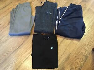 Mens size S Athletic Pants amp; M Shirt Lot of 4 HurleyOld NavyUnder Armour EC $39.99