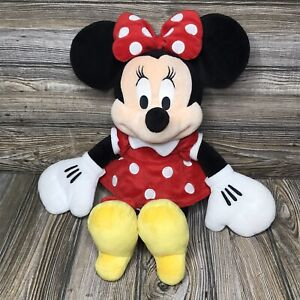 Disney Collections Minnie Mouse 17quot; Plush Toy Red Polka Dot Dress amp; Bow $8.54