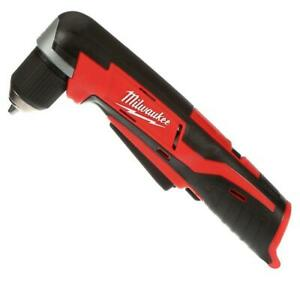 Milwaukee M12 12 Volt Lithium Ion 3 8 in. Cordless Right Angle Drill Tool Only $66.99