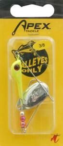 4 Apex Weight Forward 3 8 Ounce Chartreuse Walleye Fishing Lures
