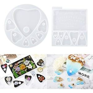 LETamp;39S RESIN Ouija Board Resin Molds And Planchette Silicone For Resin 2PCS 14