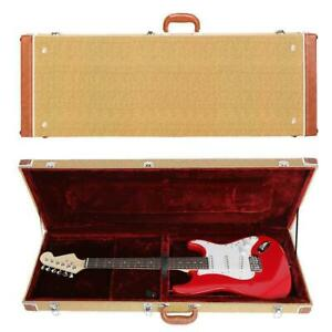 New Hard Case Fits Most Standard Electric Guitars Lockable Glarry $58.97