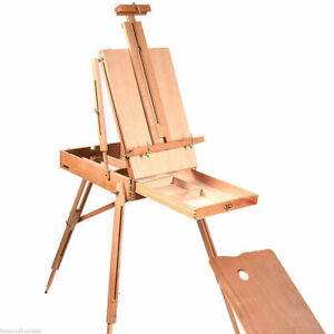 French Easel Wooden Sketch Box Portable Folding Durable Artist Painters Tripod $29.99