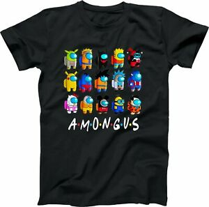 AMONG US Imposter? Video Game Friends Custom T SHIRT $11.99