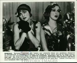 Press Photo Madonna amp; Jennifer Grey In quot;Bloodhounds Of Broadwayquot; lrp25876