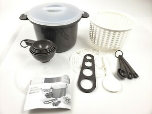 Microwave Rice Cooker and Pasta Cooker 17 Piece Set BPA Free 12 Cup Capacity $8.99