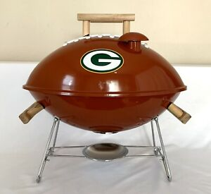 Green Bay Packers Football Tailgate Portable Charcoal Grill NOS