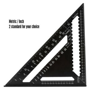Aluminum Alloy Triangle Ruler Protractor Miter Framing Measuring Metric Inch C $18.44