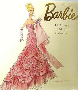 MIB Barbie Fashion Collection 16 month calendar Silkstone Robert Best 2013