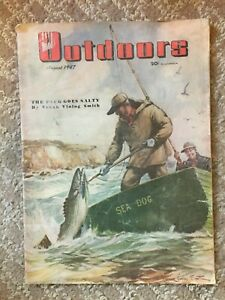 Outdoors magazine August 1947 Fishing cover