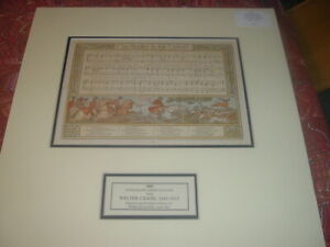 """1883 Lithograph Stone Color Walter Crane Music Sheet. """"The Hunter in his Career"""" $42.00"""