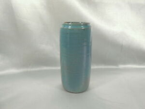 Vintage Artist Signed M. Cable 5 1 2quot; Cylindrical University Of No. Dakota Vase $79.99