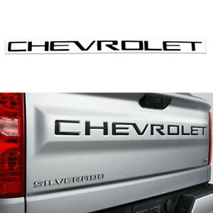 Black Tailgate CHEVROLET Emblems letters For 2019 2020 Chevrolet Silverado 1500