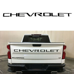 Tailgate CHEVROLET Emblems letters For 19 20 Chevrolet Silverado 1500 Black New