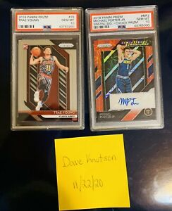 🔥🔥Trae Young amp; Michael Porter Jr 2018 Prizm Rookie PSA 10 2 Card Combo 🔥🔥 $1149.00