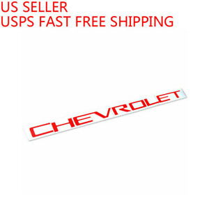 Red Tailgate CHEVROLET Emblems letters For 2019 2020 Chevrolet Silverado 1500