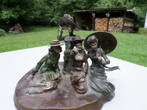 quot;Fine Bronze By KENNETH OTTINGER Fine Artist Group of for ladies only 1 12 $499.99