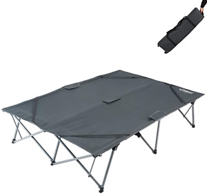 KingCamp Double Folding Camping Cots for 2 People Folding Cot Bed Heavy Duty Up