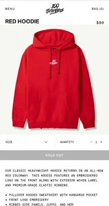 100 Thieves Jam Collection Red Hoodie Size: 3XL $150.00