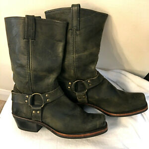 FRYE Harness 12R Womens Boots Size 11 Leather Black Western Riding Motorcycle $64.95