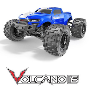 Redcat Racing Volcano 16 1 16 Scale Brushed RC Monster Truck Blue NEW $99.99