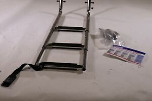 For 39quot;H Stainless Steel 3 Step Under Swim Step Telescoping Ladder $99.50