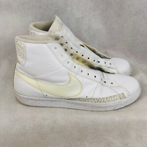 Nike Mens Blazer Basketball Shoes White 316664 112 2008 Lace Up High Top 12 M $44.99