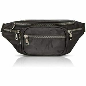 Black Camouflage Plus Size Fanny Pack With Adjustable Strap 29 49 Inches 5XL