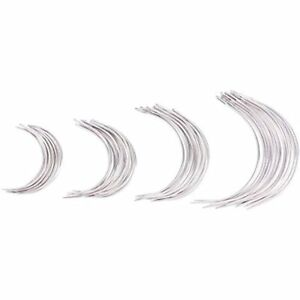 SUPVOX 48Pcs Curved Needles Weaving Hand Sewing Sizes 2.0 2.5 3 3.5 Inch $10.98