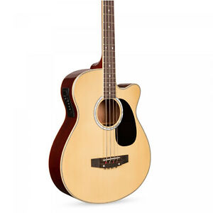 Acoustic Electric Bass Guitar w Equalizer Truss Rod wood composition