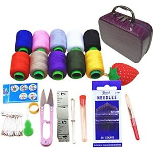 Coralpearl Deluxe Basic Sewing Kit Box Small Vintage Storage Bag Organizer For $42.58