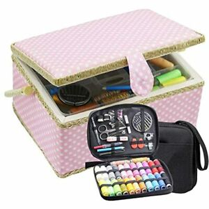 Large Sewing Basket With Kit Box Organizer Accessories Supplies Storage Tools $64.98