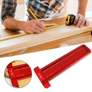 Woodworking Hole Ruler T Ruler Hole Positioning Measuring Ruler Scribing Tool GE $29.06