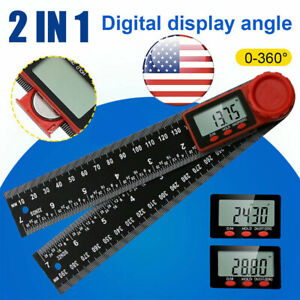 Electronic LCD Digital Angle Finder Ruler Protractor 8#x27;#x27; 360° Gauge Measure Tool $13.99
