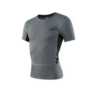 Men Compression T shirt Quick Dry Shirts Sports Running Gym Fitness Workout Tops $8.07