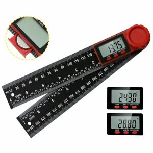 Electronic Digital Angle Finder 8quot; Protractor Ruler Stainless LCD With batteries $10.89
