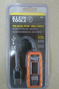 Klein Tools ET900 USB Digital Meter USB A Type A New w Free Shipping $14.99