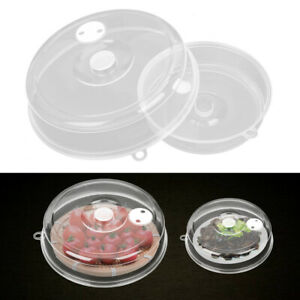 Microwave Plate Cover Clear With Steam Vent Splatter Lid For Food Dish Home