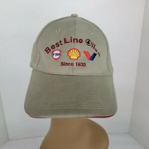 Best Line Oil Company Baseball Hat Cap Adjustable Beige
