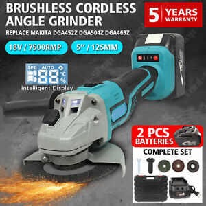 18V Cordless Angle Grinder with Battery Charger Cutting Disc Replace Makita US $106.00