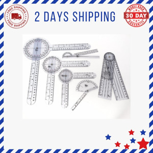 Set of 6 Piece Spinal Finger Goniometer Protractor Ruler 360 Degree 12 inch 8 in $33.22
