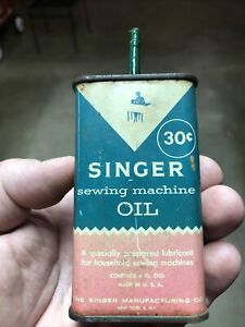 Vintage Singer Sewing Machine Oil Can $5.00