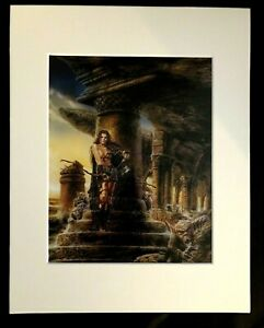 The Roofs of Fear by Luis Royo 1993 11 x 14 Matted Print Fantasy Sci Fi $16.99