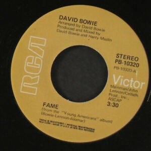 DAVID BOWIE: fame right RCA 7quot; Single $6.00