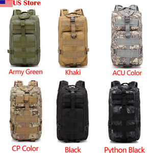 25L Military Camping Backpack Hiking Travel Tactical Bag Outdoor Waterproof 3P