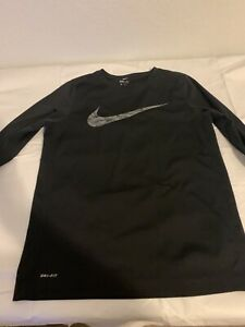 Nike Mens XL Long Sleeve Dry Fit Shirt Black $17.99