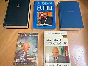 5 Vintage Books U.S. PRESIDENTS Eisenhower Grant Ford